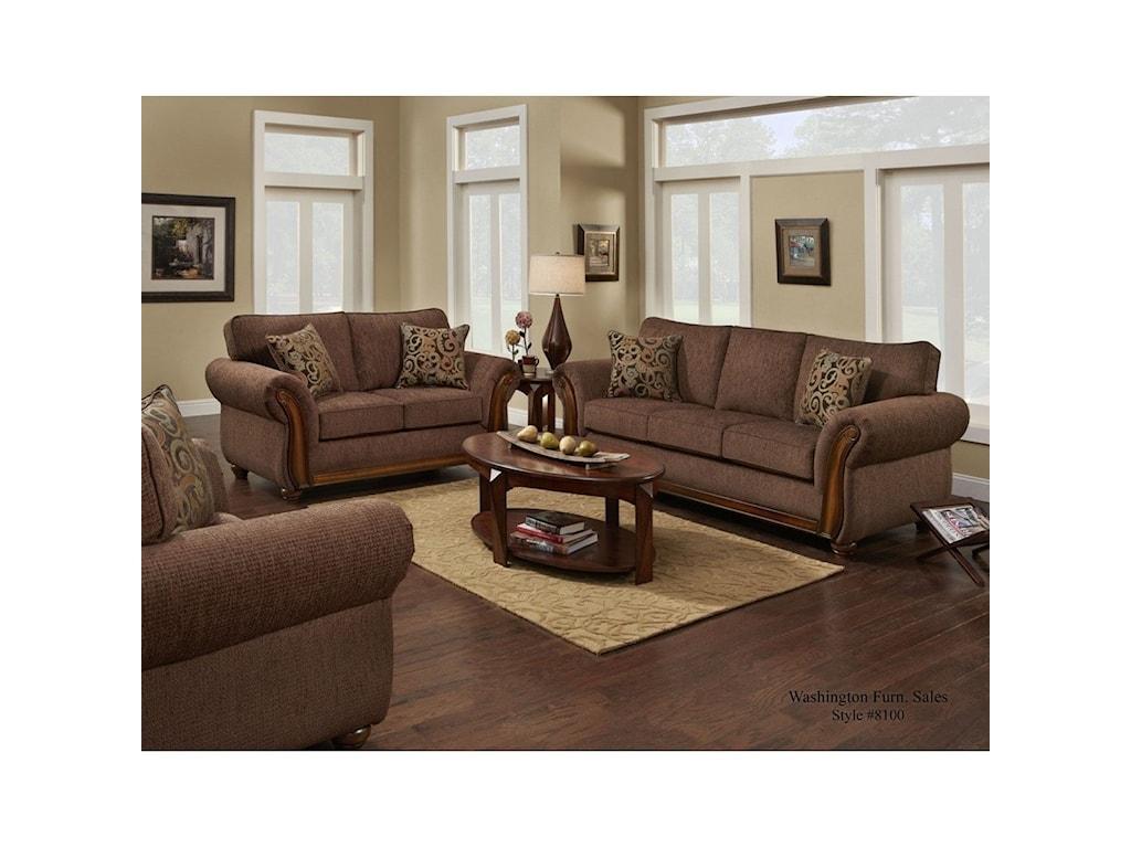 Washington Furniture 8100 WashingtonLove Seat