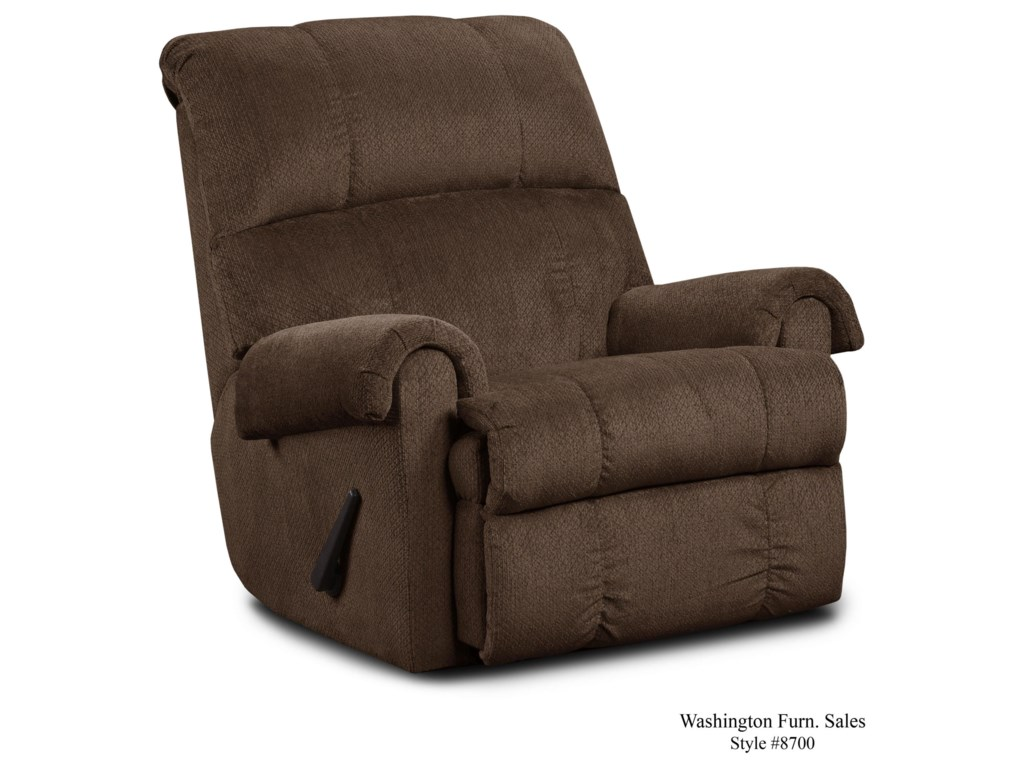 Washington Furniture KellyChocolate Rocker Recliner