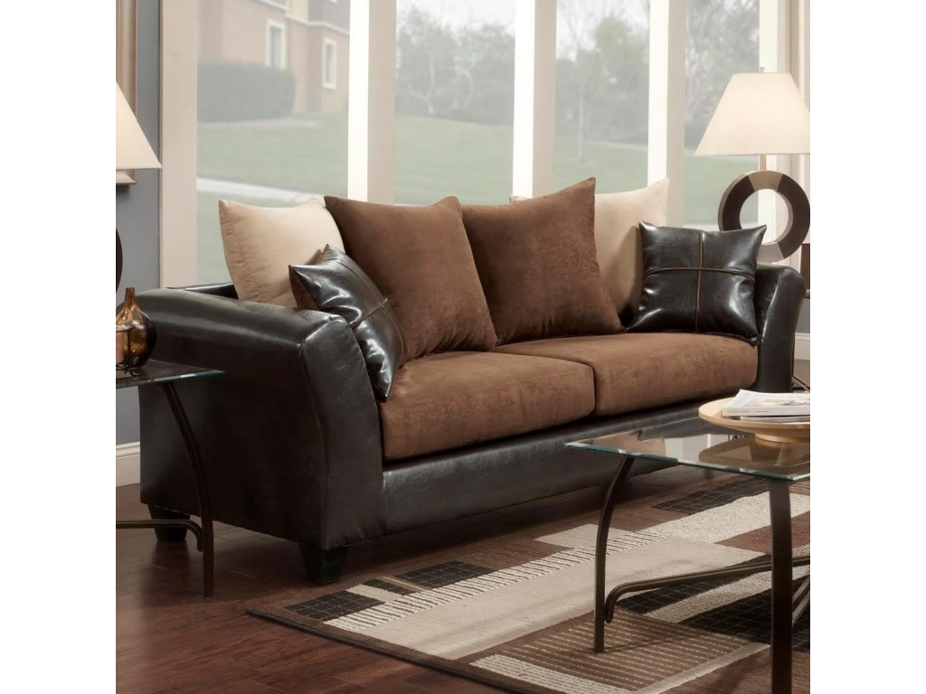 9000 Contemporary Sofa With Loose Pillow Back By Washington Furniture