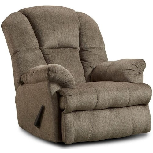 Washington Furniture Ernie Casual Recliner with Pillow Arms