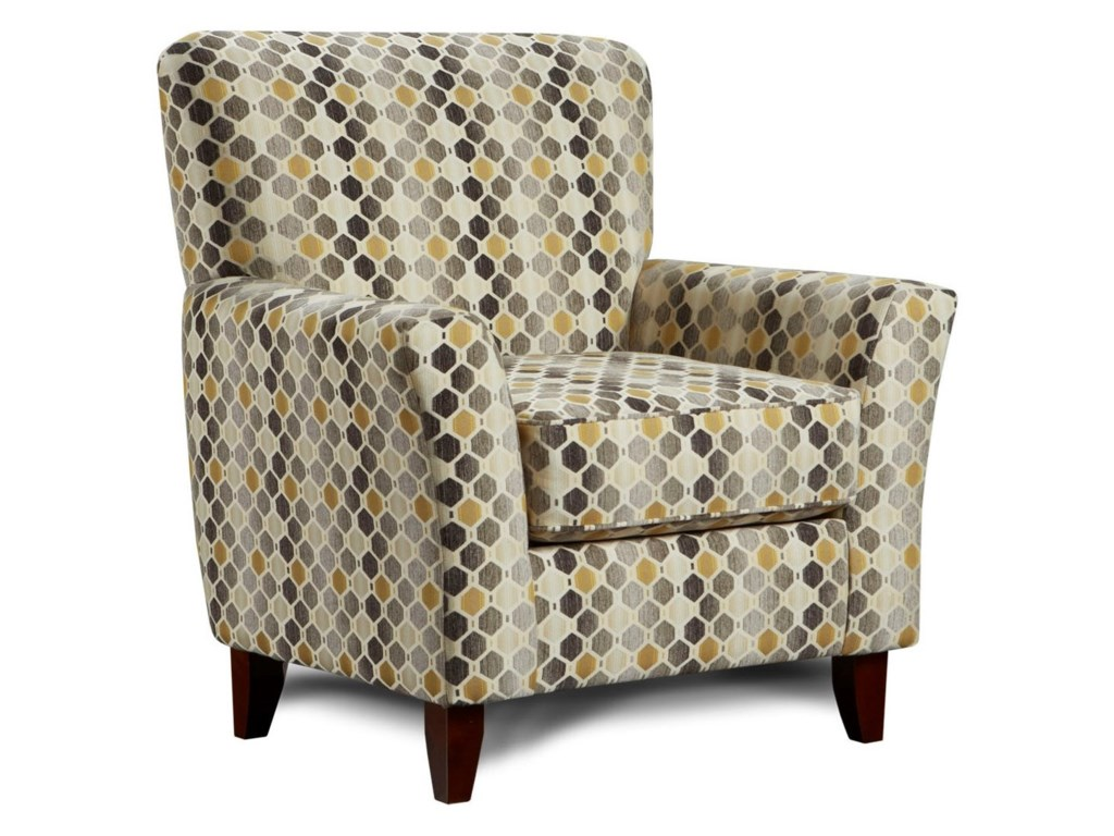 Contemporary canary colored accent chairs - Washington Furniture Accent Chairs By Washington Transitional Accent Chair With Exposed Wood Legs Del Sol Furniture Upholstered Chairs