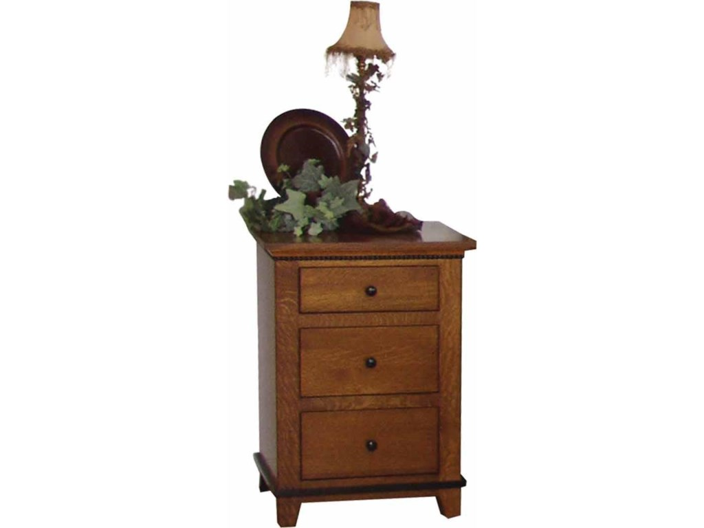 Wayside Custom Furniture Brookstone3 Drawer Nightstand