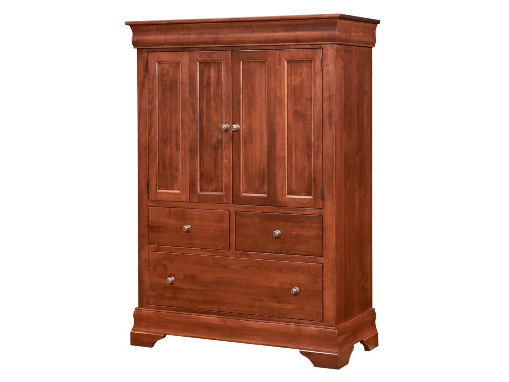 Wayside Custom Furniture ChateauArmoire 2 Door, 3 Drawers