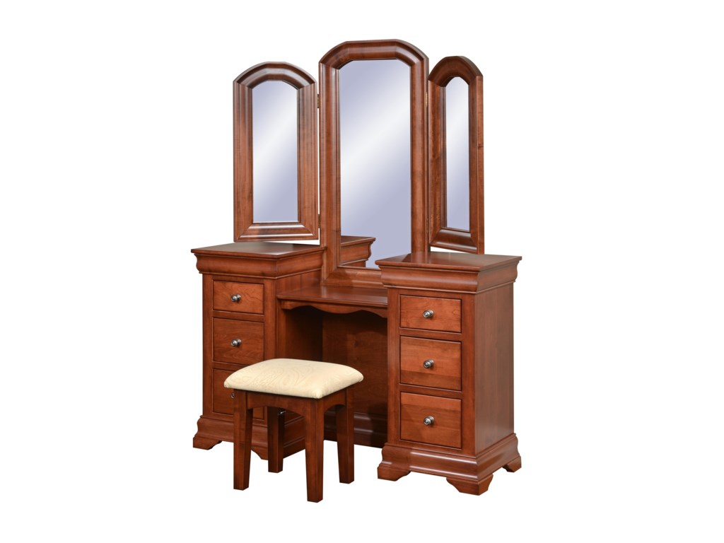 Wayside Custom Furniture ChateauVanity & Mirror
