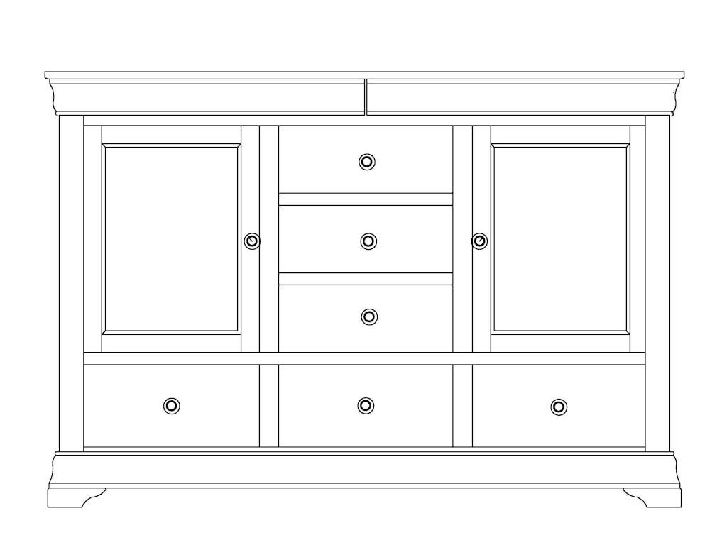 Wayside Custom Furniture ChateauDoor Mule Dresser