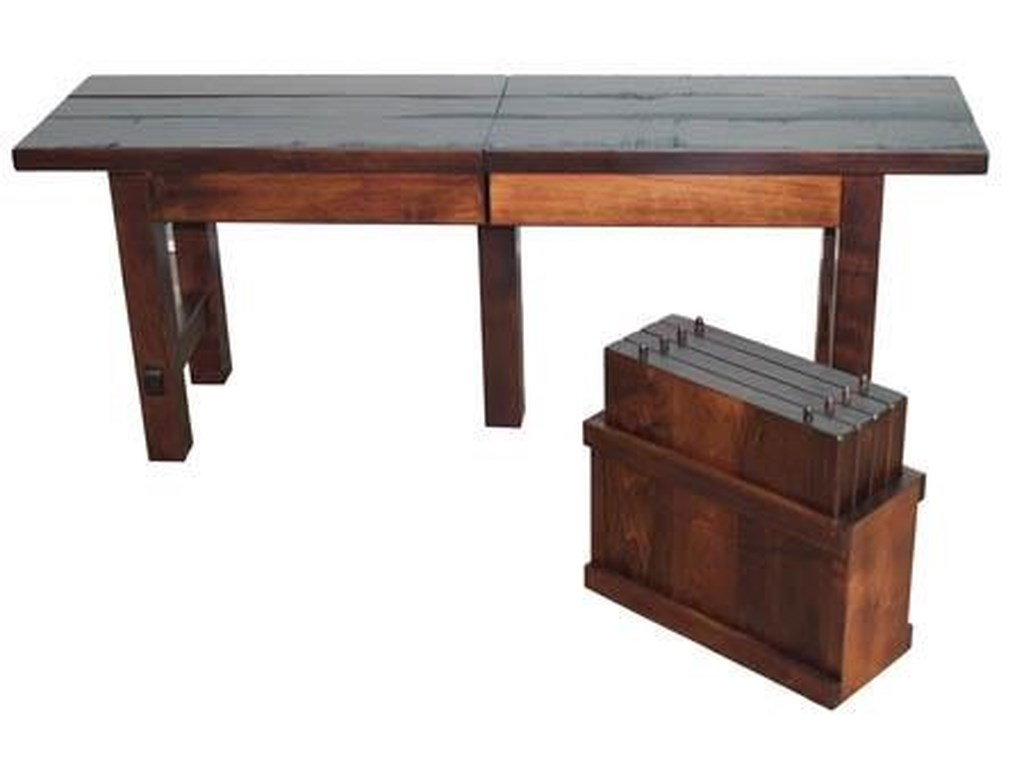 Wayside Custom Furniture Casual DiningBarn Floor Extend-A-Bench