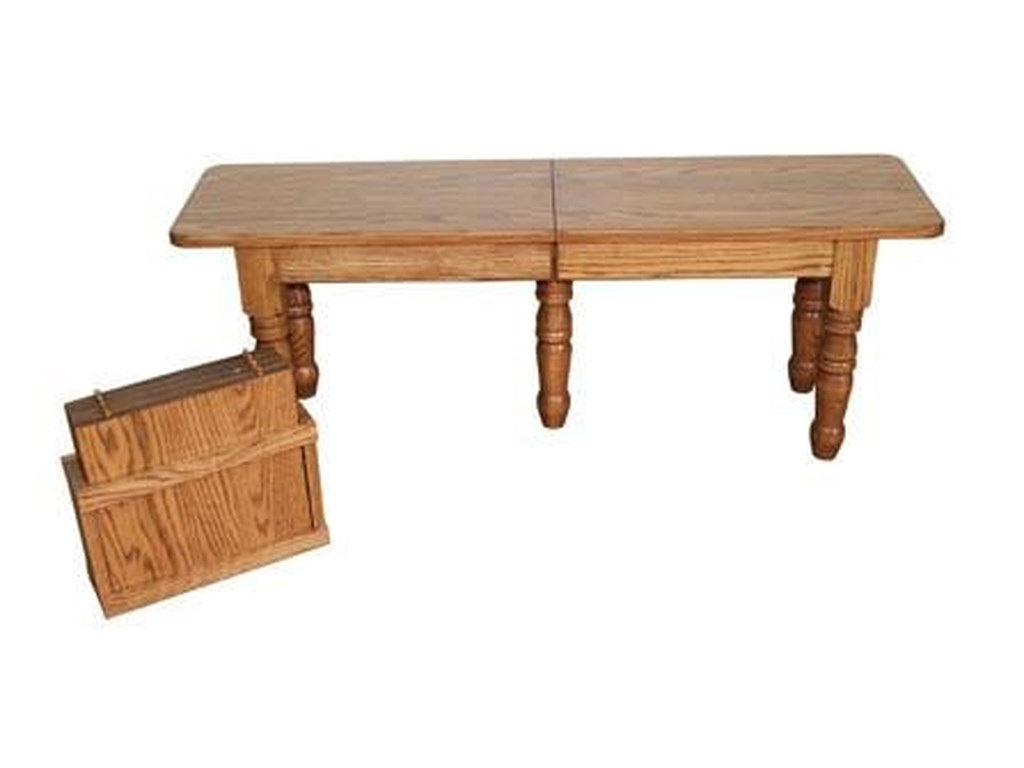 Wayside Custom Furniture Casual DiningTurned Leg Extend-A-Bench