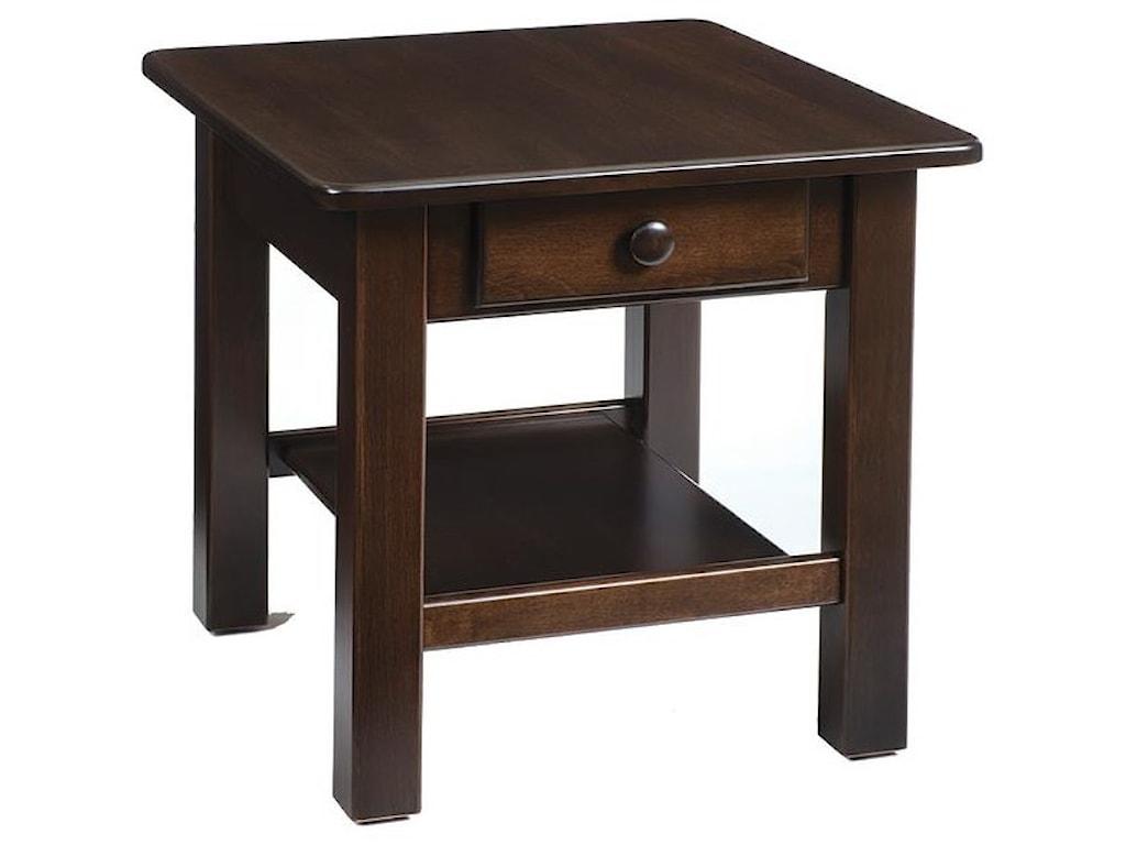 Wayside Custom Furniture ContemporaryEnd Table