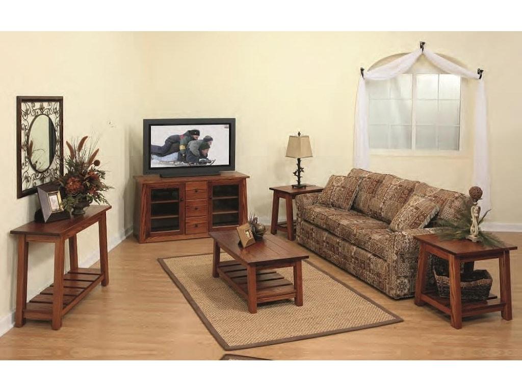 Wayside Custom Furniture EdgewoodSofa Table