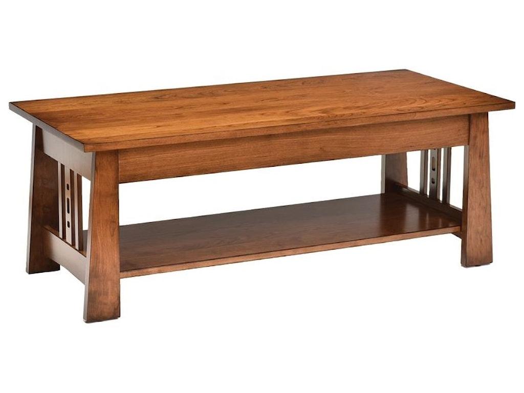 Wayside Custom Furniture Aspen Cocktail Table Wayside Furniture