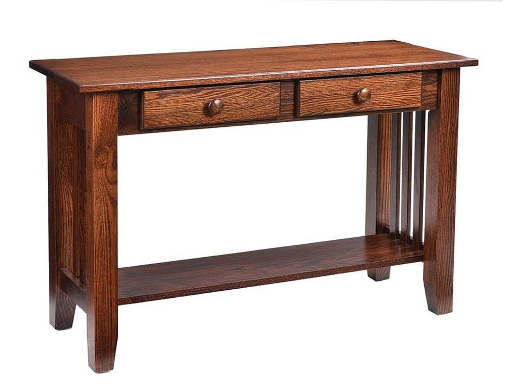 Mission Sofa Table by Wayside Custom Furniture at Wayside Furniture