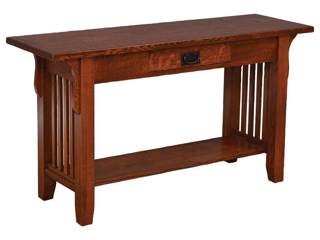 Old World Mission Sofa Table by Wayside Custom Furniture at Wayside  Furniture