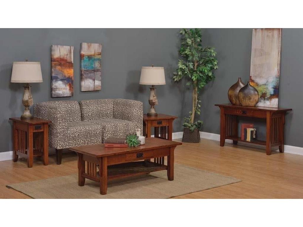 Wayside Custom Furniture Old World MissionSofa Table