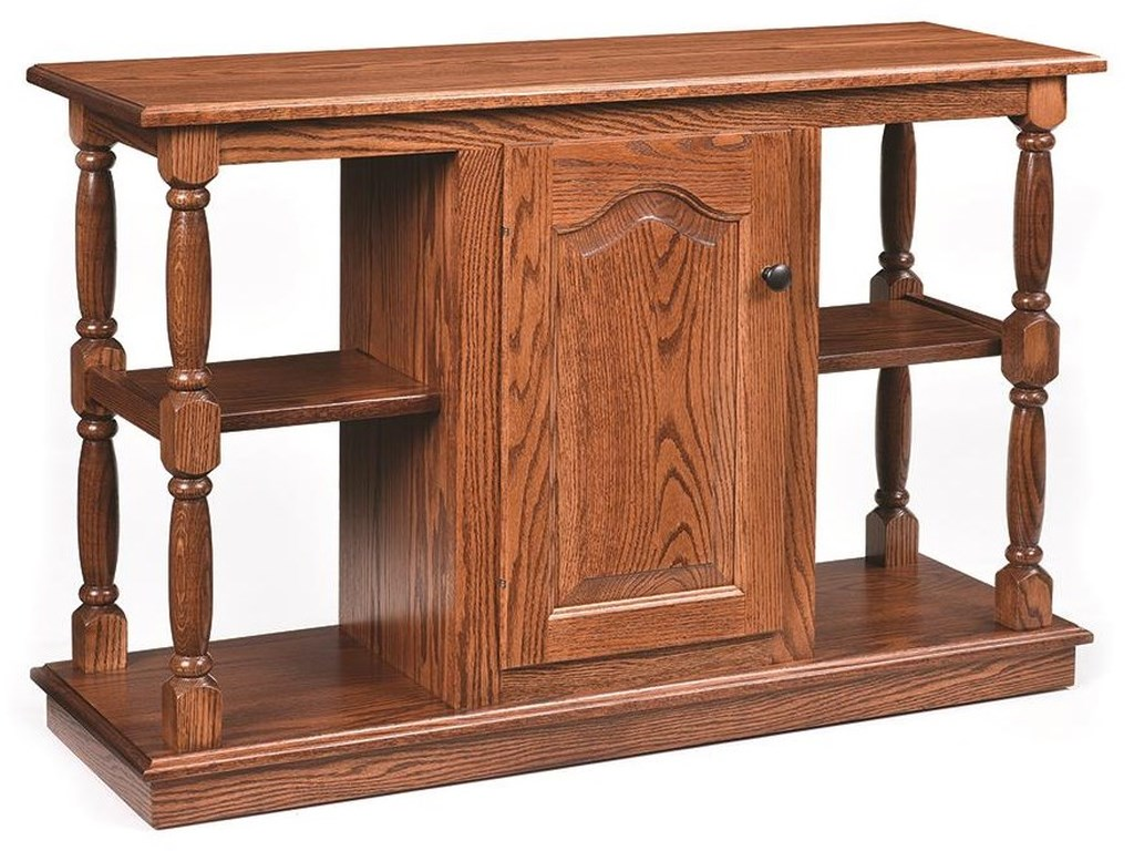 Raised Panel Sofa Table by Wayside Custom Furniture at Wayside Furniture