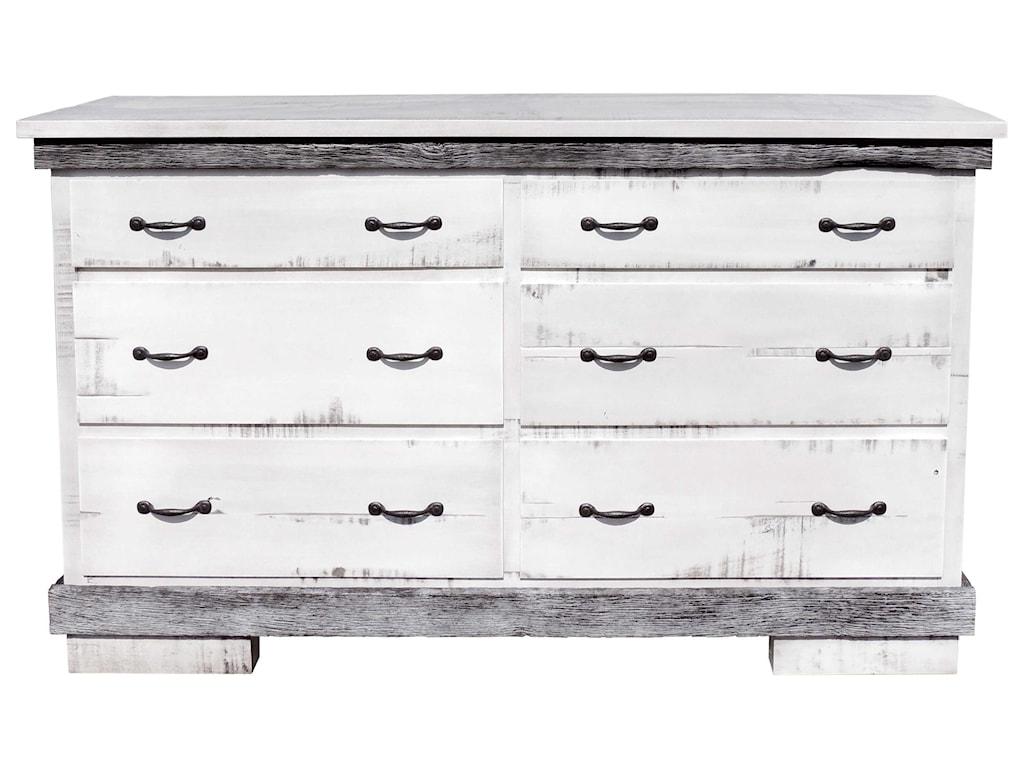 Wayside Custom Furniture Flint Ridge6 Drawer Dresser