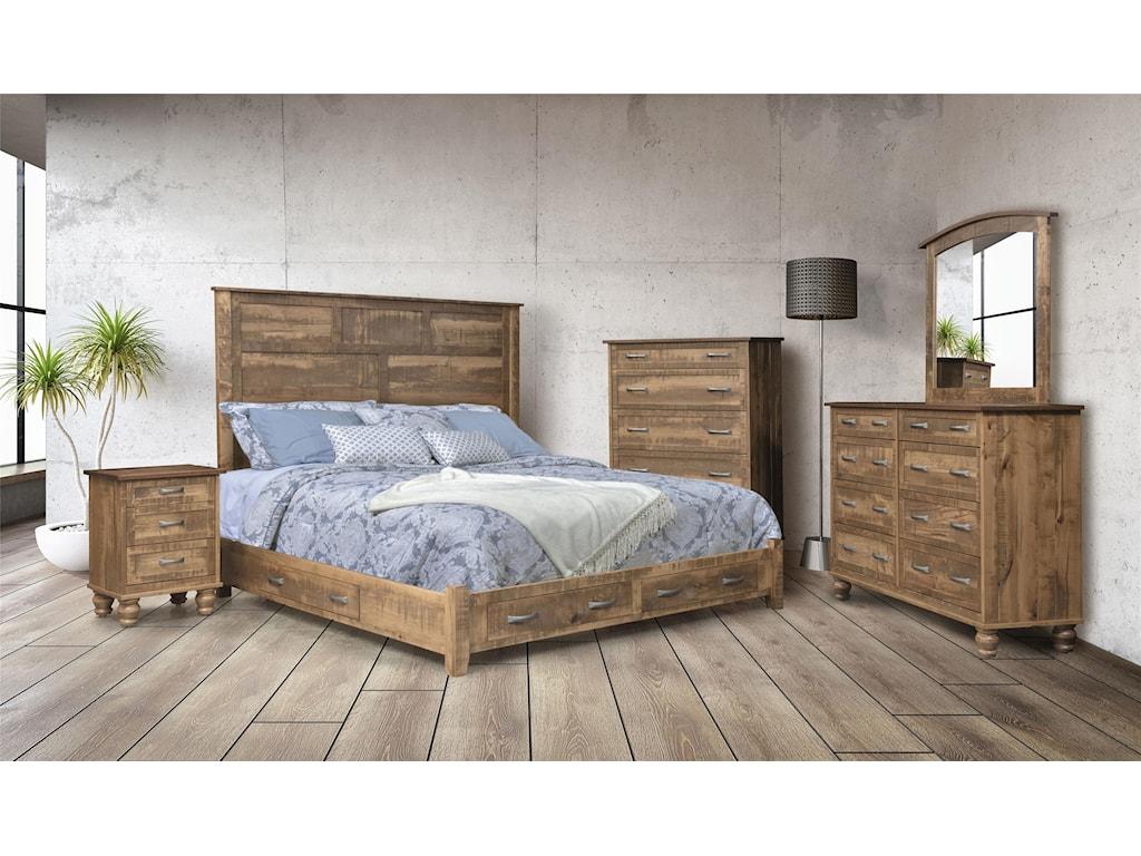 Wayside Custom Furniture Carson3 Drawer Night Stand