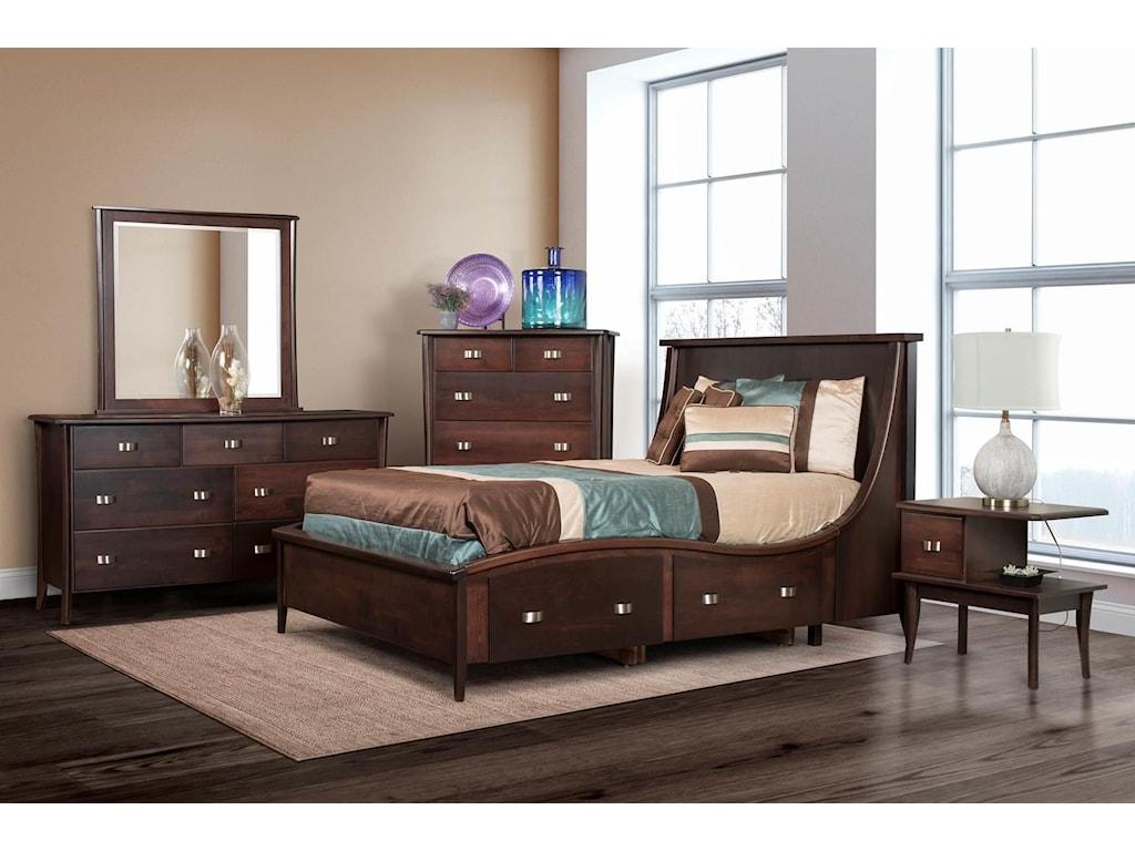 Wayside Custom Furniture Casual7 Drawer Dresser & Mirror