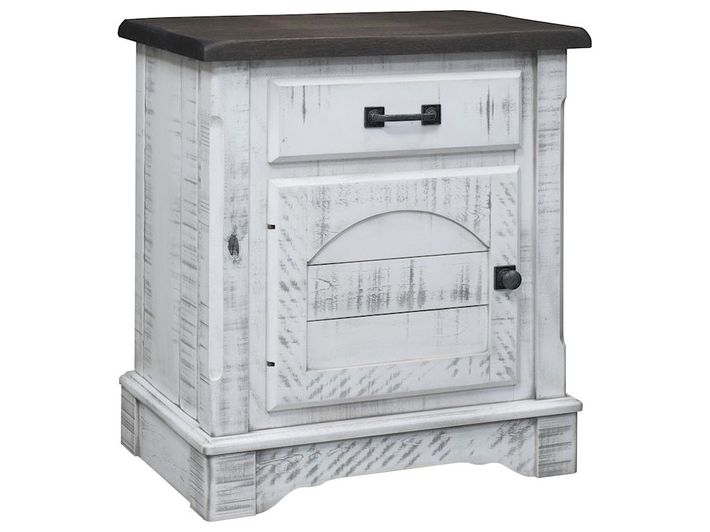 Wayside Custom Furniture Cottage Retreat1 Drawer, 1 Door Nightstand