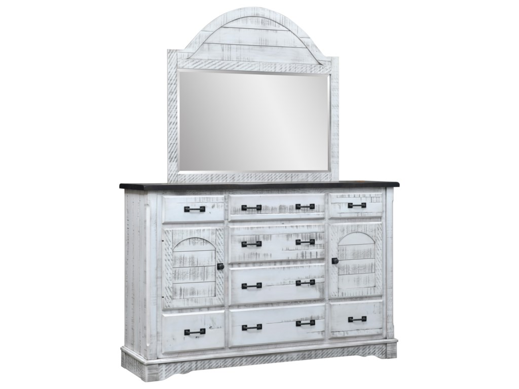 Wayside Custom Furniture Cottage RetreatMule Dresser & Mirror