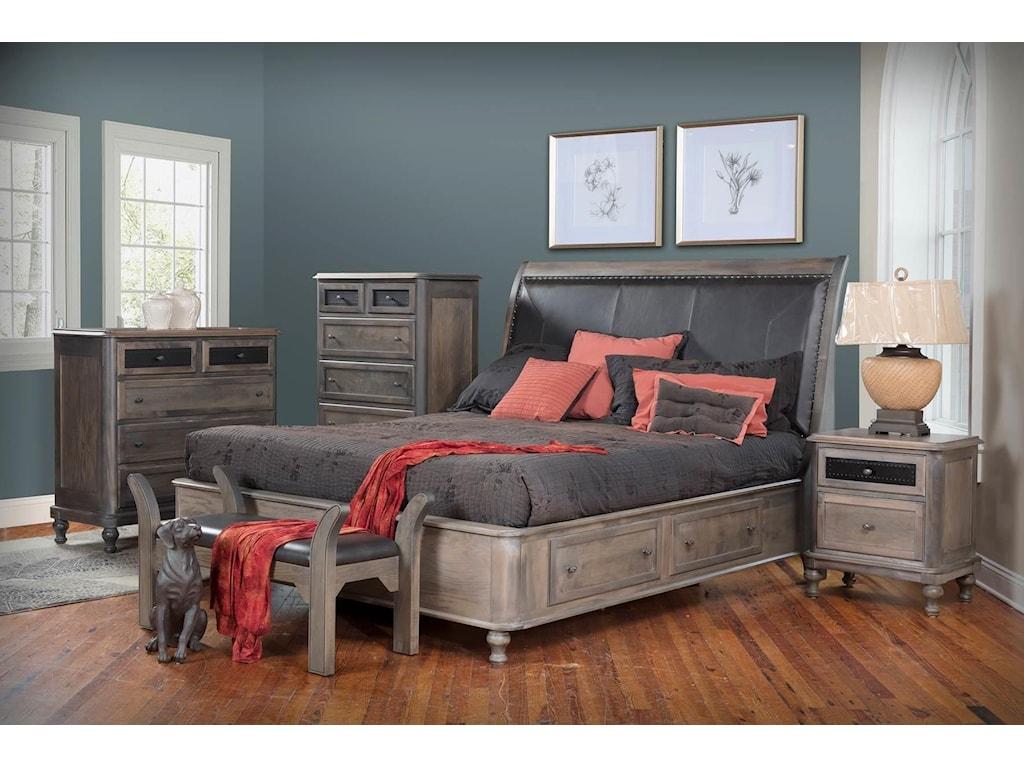 Wayside Custom Furniture Tribecca5pc King Bedroom Group