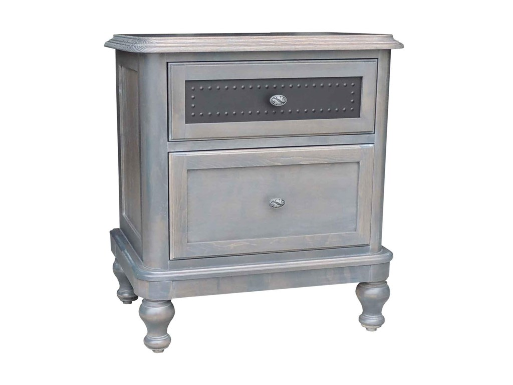 Wayside Custom Furniture Tribecca2 Drawer Night Stand
