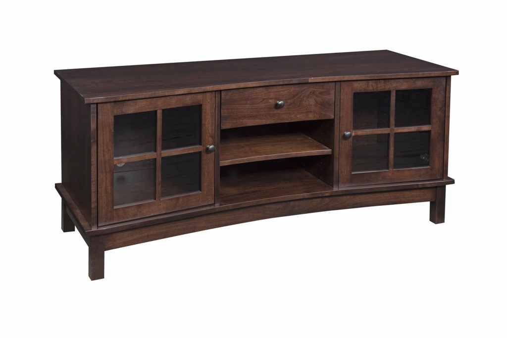 Wayside Custom Furniture Solid Wood Tv Stands 60 Concave Tv Stand