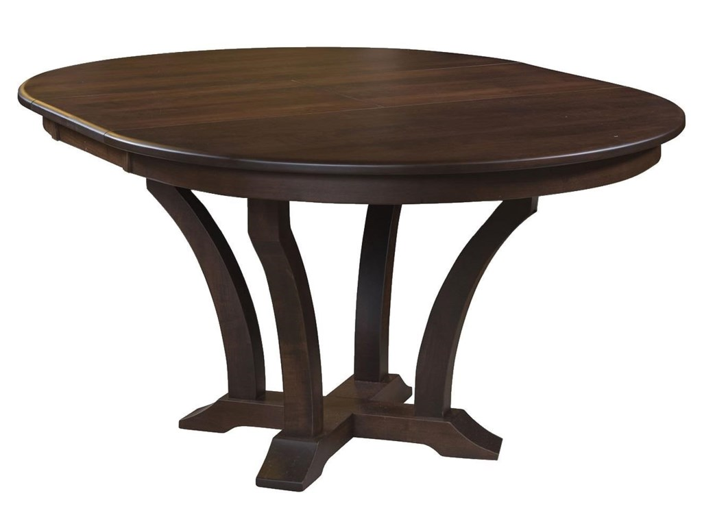 Wayside Custom Furniture Kountry KnobAcadia Single Pedestal Table