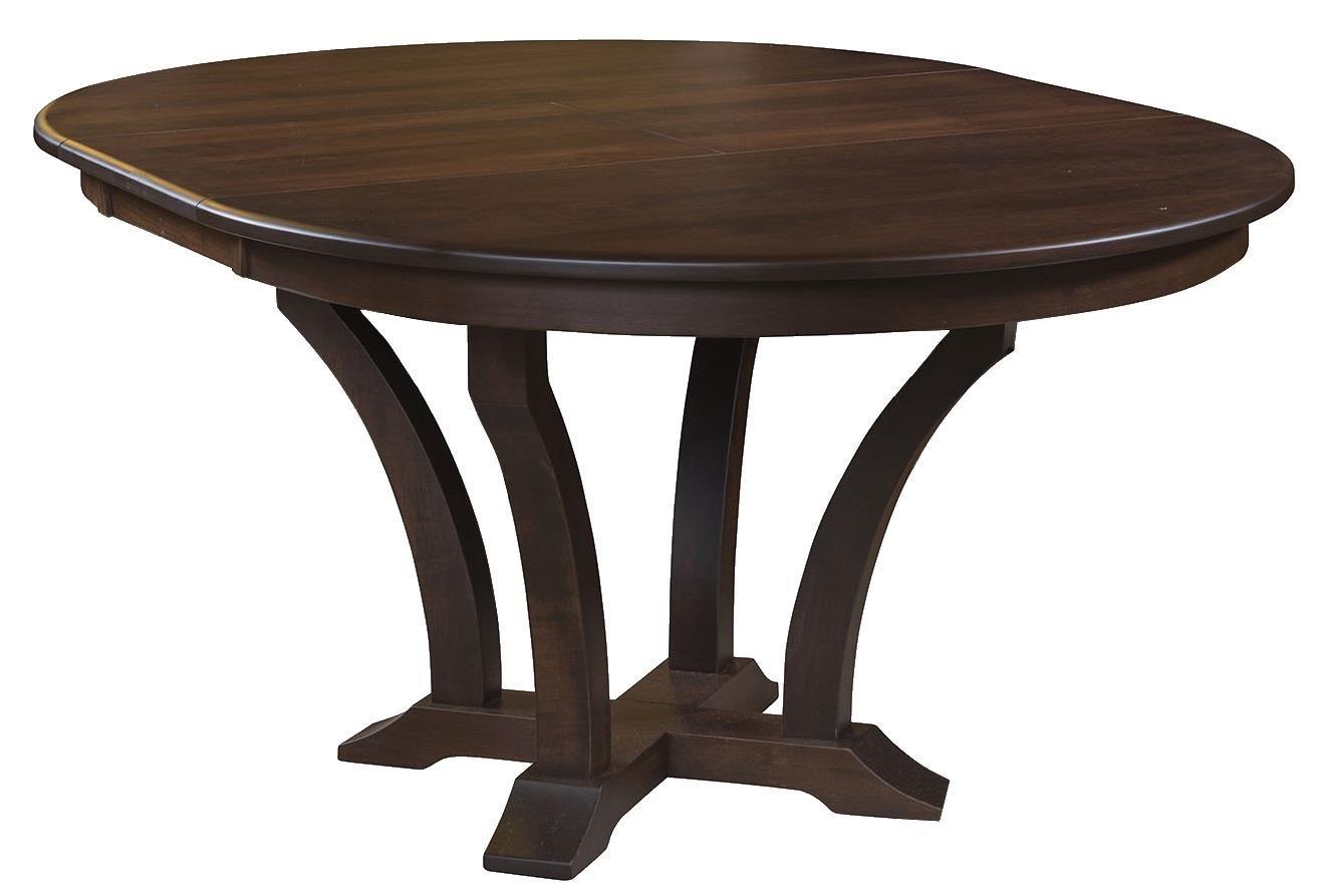 Wayside Custom Furniture Kountry Knob Acadia Single Pedestal Table