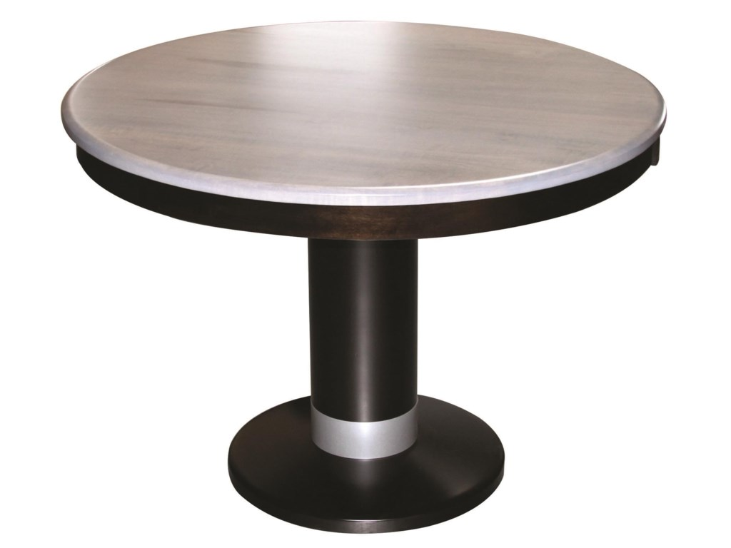 Wayside Custom Furniture Kountry KnobAlcoe Round Single Pedestal Table