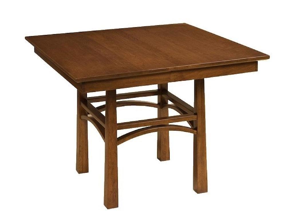 Wayside Custom Furniture Kountry KnobArtesa Single Pedestal Table