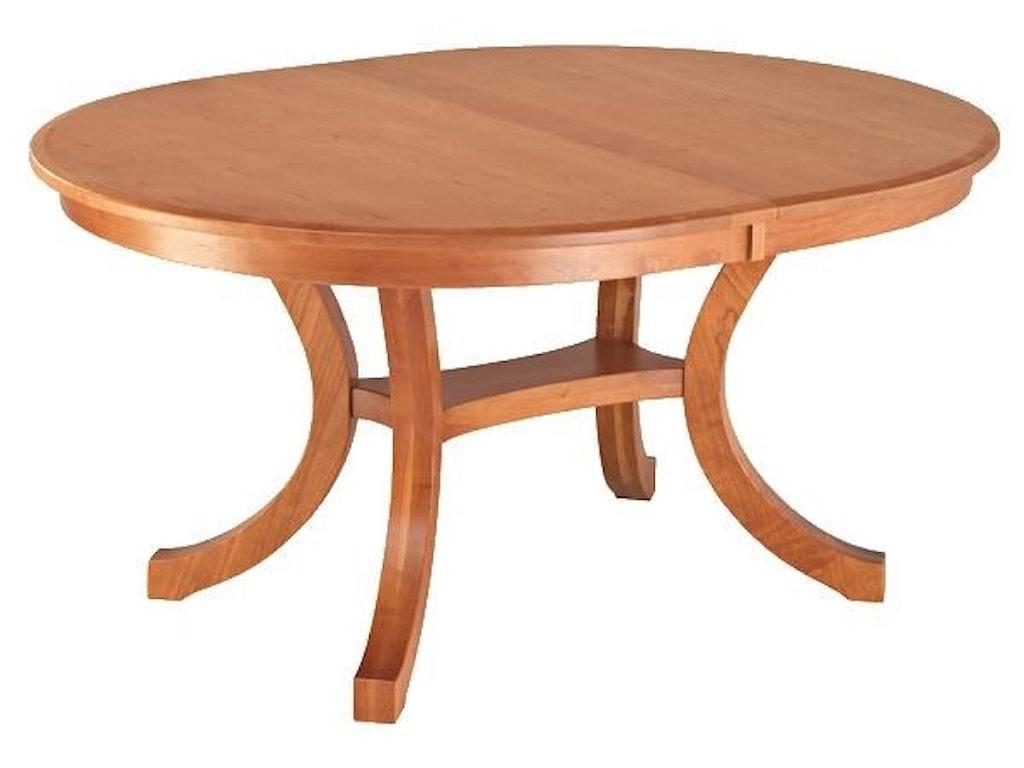 Wayside Custom Furniture Kountry KnobCarlisle Double Pedestal Table