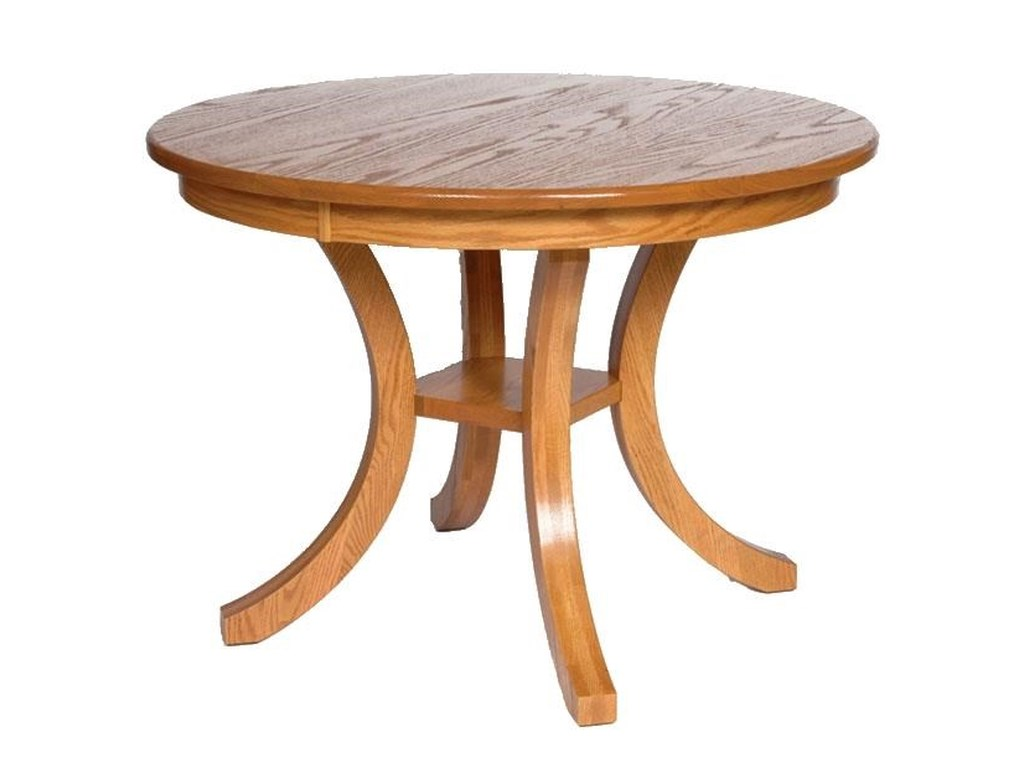 Wayside Custom Furniture Kountry KnobCarlisle Single Pedestal Table