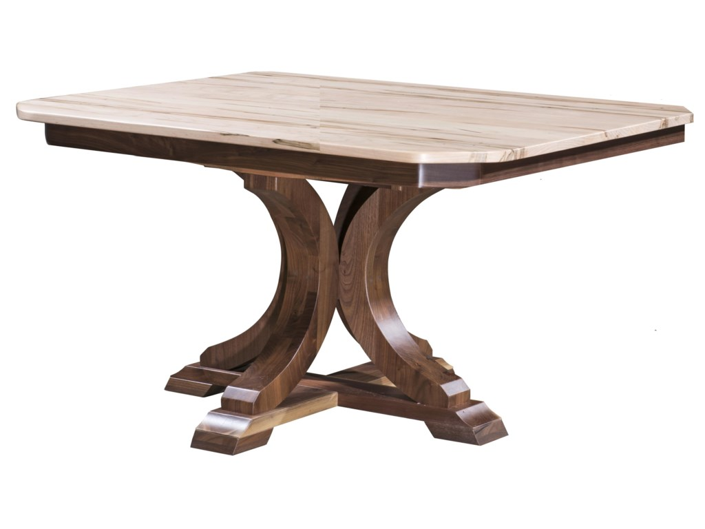 Kountry Corsica Single Pedestal Table By Wayside Custom Furniture At