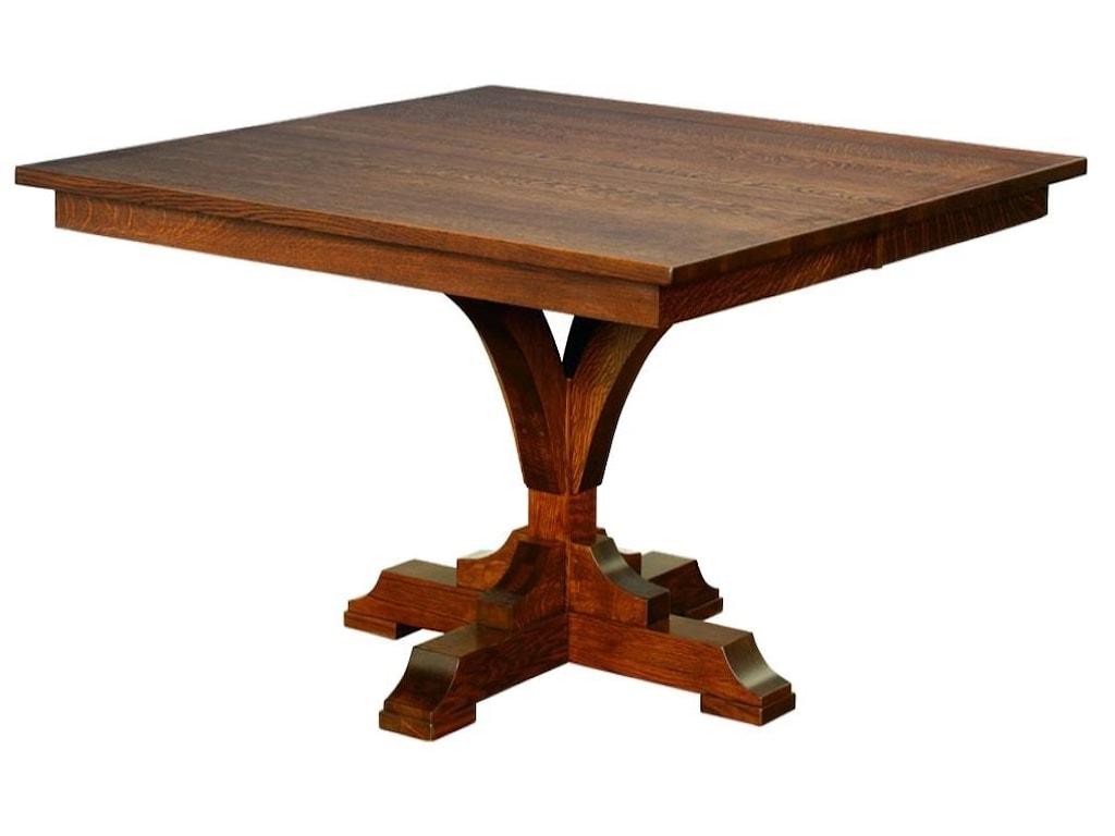 Wayside Custom Furniture Kountry KnobFrancis Single Pedestal Table