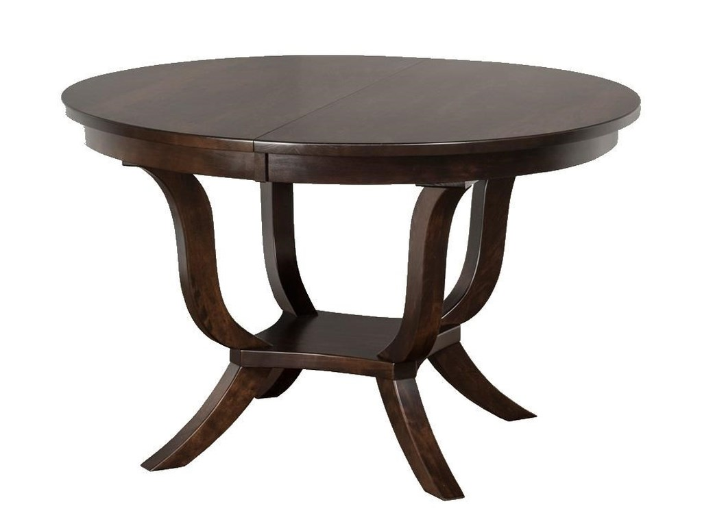 Wayside Custom Furniture Kountry KnobKinsley Single Pedestal Table