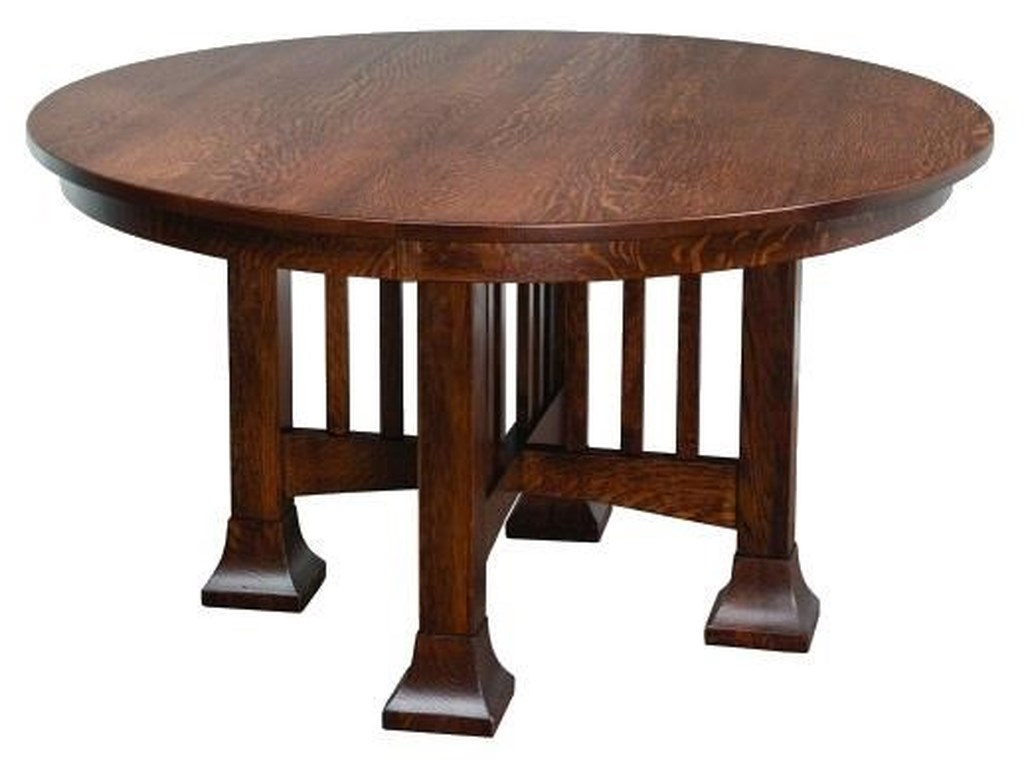 Wayside Custom Furniture Kountry KnobMesa Single Pedestal Table