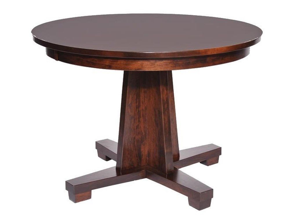 Wayside Custom Furniture Kountry KnobModern Single Pedestal Table