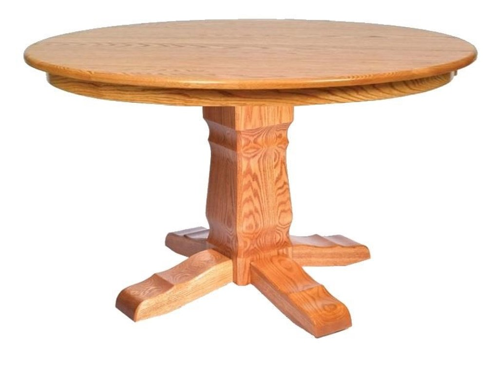 Wayside Custom Furniture Kountry KnobPost Mission Single Pedestal Table