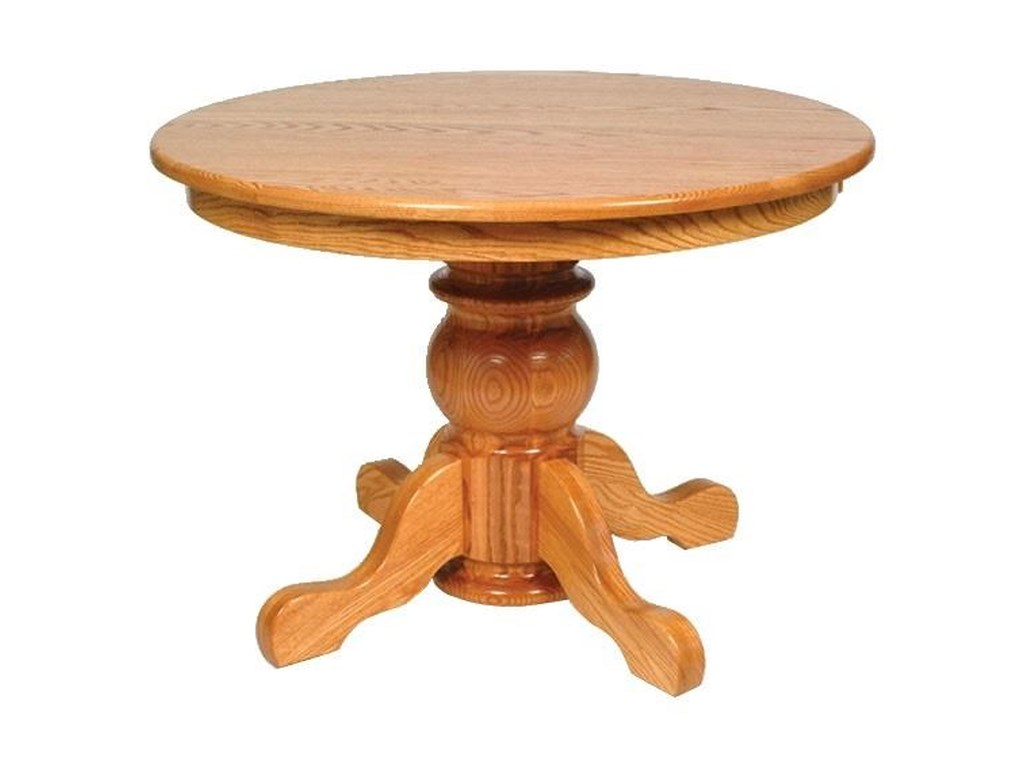Wayside Custom Furniture Kountry KnobPot Belly Single Pedestal Table