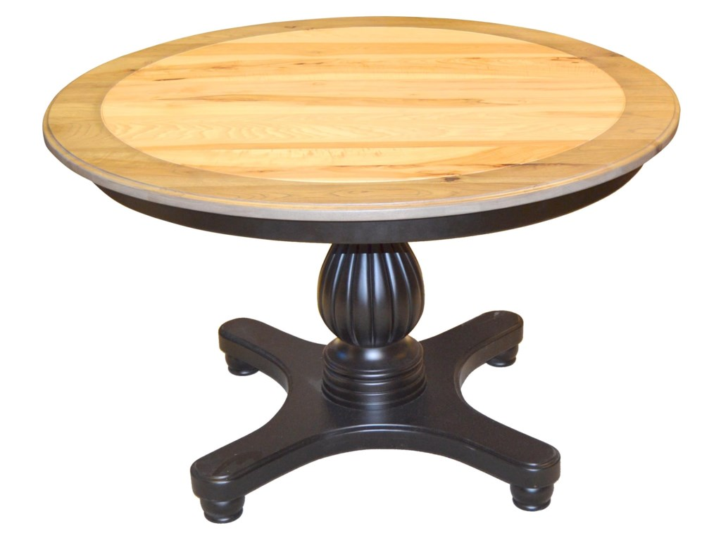 Wayside Custom Furniture Kountry KnobProvence Single Pedestal Table