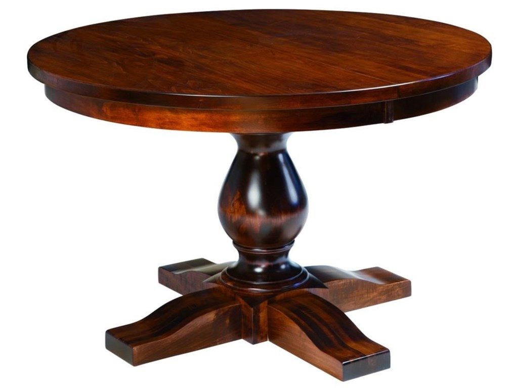 Wayside Custom Furniture Kountry KnobSalem Single Pedestal Table