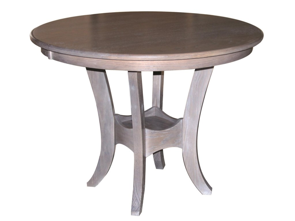 Wayside Custom Furniture Kountry KnobSierra Single Pedestal Table