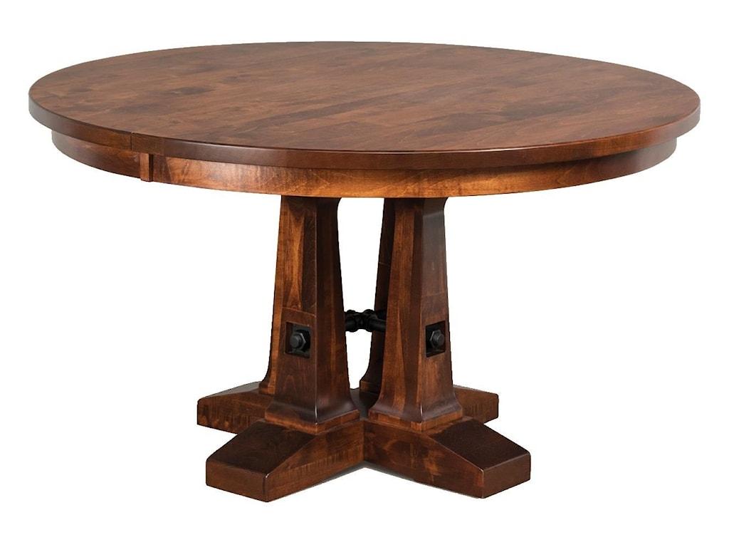 Wayside Custom Furniture Kountry KnobVienna Single Pedestal Table