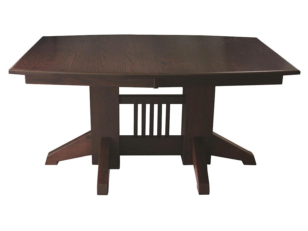 Wayside Custom Furniture Kountry KnobShaker Double Pedestal Table