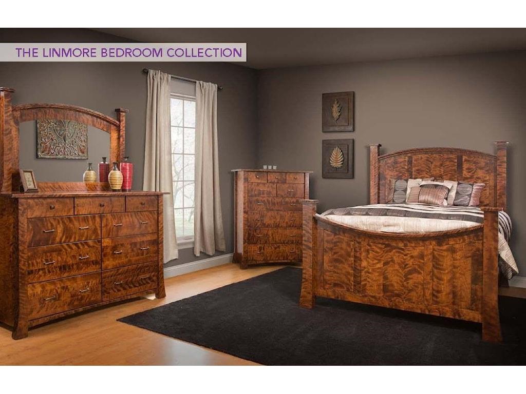 Wayside Custom Furniture Linmore4pc Queen Bedroom Group