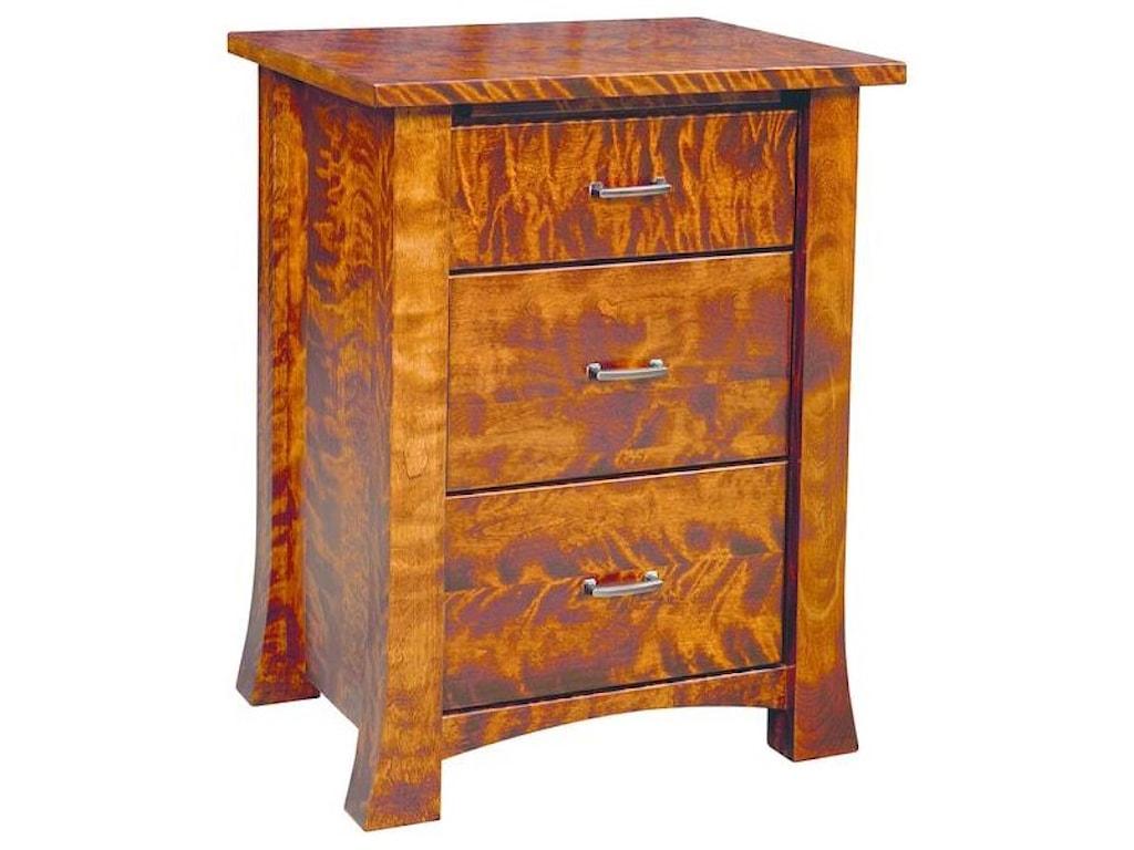 Wayside Custom Furniture Linmore3 Drawer Nightstand