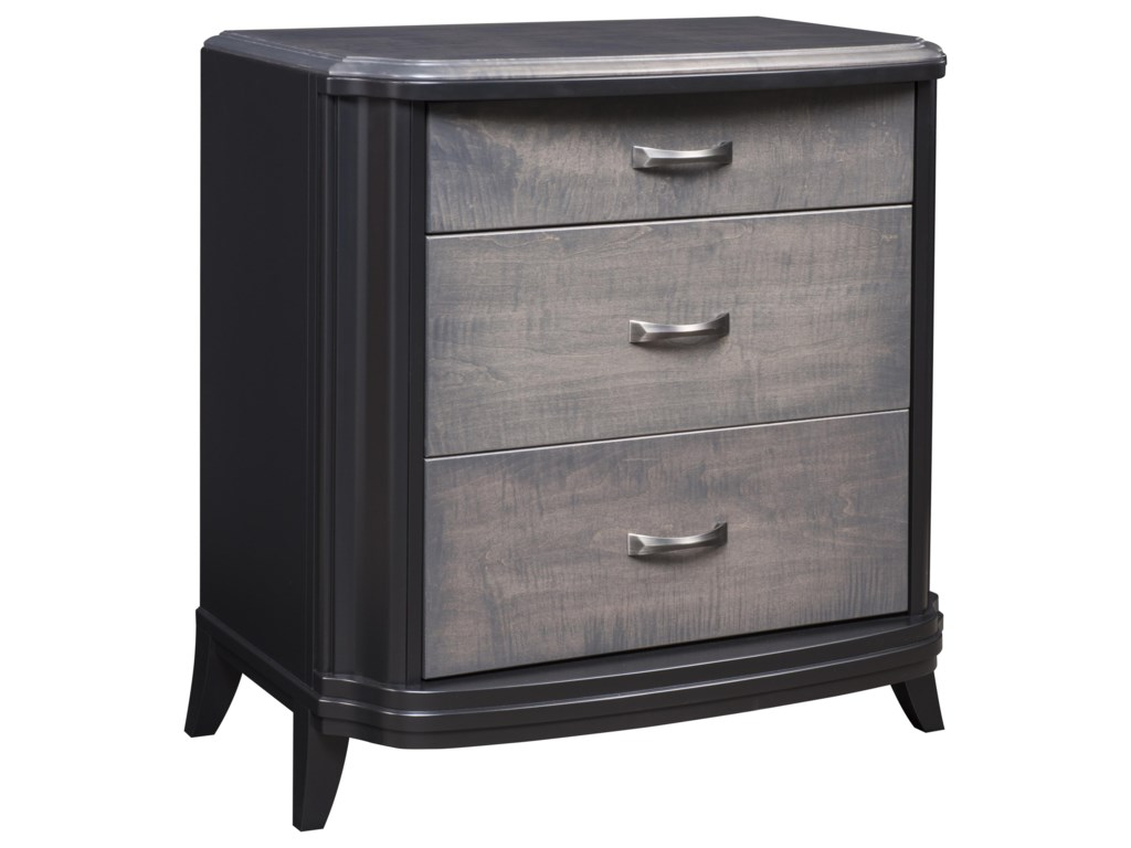 Wayside Custom Furniture MagnoliaLarge 3 Drawer Nightstand