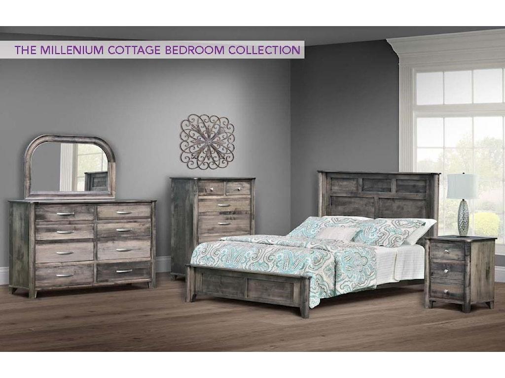 Wayside Custom Furniture Millenium Cottage4pc King Bedroom Group