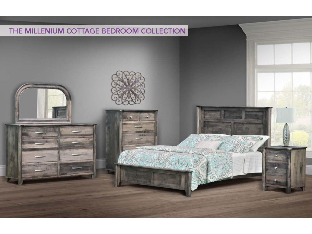 Wayside Custom Furniture Millenium Cottage5pc King Bedroom Group