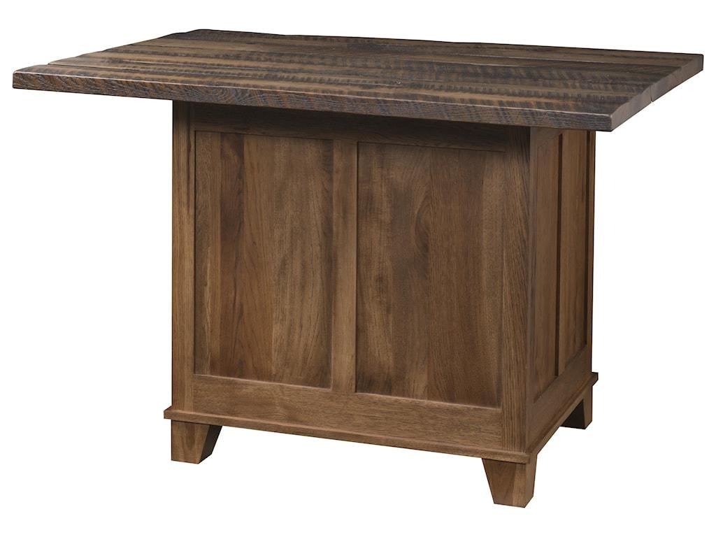 Wayside Custom Furniture BridgeportKitchen Island, 2 Door, 1 Drawer